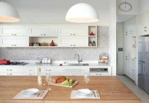 מטבח קלאסי בצבע לבן